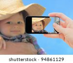 hand making shot of little boy... | Shutterstock . vector #94861129