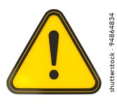 black triangle warning sign on... | Shutterstock . vector #94864834