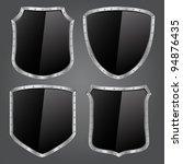 vector black shields | Shutterstock .eps vector #94876435