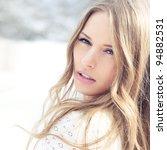 beautiful girl face. the... | Shutterstock . vector #94882531