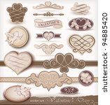 decorative elements on... | Shutterstock .eps vector #94885420