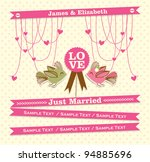 just married card 2 | Shutterstock .eps vector #94885696