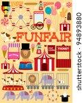 fun fair illustration vector | Shutterstock .eps vector #94893880