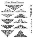 vintage floral elements. vector ... | Shutterstock .eps vector #94894417