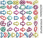 vector arrows set | Shutterstock .eps vector #94905259
