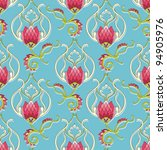 Seamless Floral Pattern. Vecto...