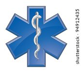 rescue paramedic medical logo... | Shutterstock .eps vector #94912435