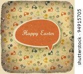 Easter Vintage Background....