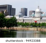 Downtown Montreal, and Bonsecours Market in Quebec, Canada - stock photo