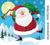 fat happy santa | Shutterstock .eps vector #94927846