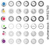 collection of modern vector... | Shutterstock .eps vector #94932760