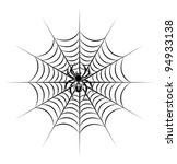 spider on web in tribal style... | Shutterstock .eps vector #94933138