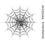 spider on web for tattoo.... | Shutterstock .eps vector #94933144