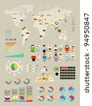 Food Infographic Set With...