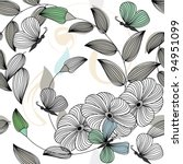 abstract flower seamless...   Shutterstock .eps vector #94951099