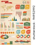 retro infographics set. world...