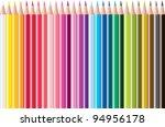 set of colored pencils. raster...   Shutterstock . vector #94956178