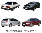 set of four sedan car | Shutterstock . vector #9495967