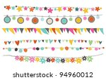 Colorful Buntings  Garlands An...