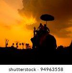 sunset thai countryside thailand | Shutterstock . vector #94963558