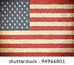 old grunge paper with usa flag... | Shutterstock . vector #94966801