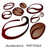 design elements of coffee beans ... | Shutterstock .eps vector #94975363