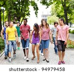multi ethnic group of people... | Shutterstock . vector #94979458