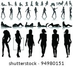 silhouettes of beautiful  and...
