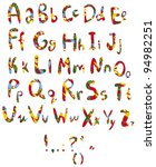 the alphabet from my big font... | Shutterstock .eps vector #94982251