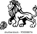lion mascot profile on white