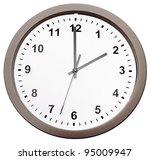 clock isolated over white... | Shutterstock . vector #95009947