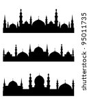 islamic city silhouettes for... | Shutterstock .eps vector #95011735