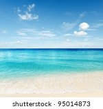 Tropical Beach. Sky And Sea.