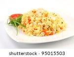 fried rice  thai cuisine   Shutterstock . vector #95015503