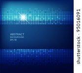 abstract technology blue... | Shutterstock .eps vector #95016091