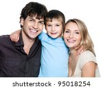 happy smiling family with... | Shutterstock . vector #95018254