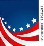 usa flag in style vector | Shutterstock .eps vector #95021269