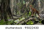 sabertooth tiger - stock photo