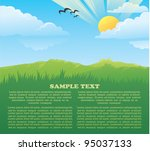 vector card with image of... | Shutterstock .eps vector #95037133