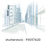 perspective drawing of a... | Shutterstock .eps vector #95057620