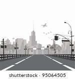 vector illustration.   highway... | Shutterstock .eps vector #95064505