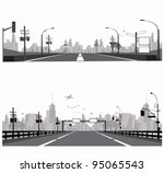 vector illustration.highway... | Shutterstock .eps vector #95065543