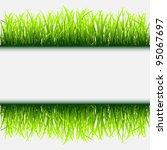 green grass frame.vector eps 10 | Shutterstock .eps vector #95067697