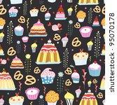 pattern of sweet cakes   Shutterstock .eps vector #95070178