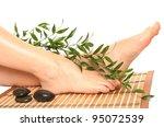 beautiful slim woman's legs... | Shutterstock . vector #95072539