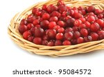 Cranberries In A Wicker Tray O...