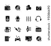 multimedia computer icon set | Shutterstock .eps vector #95086690