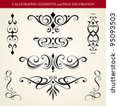 calligraphic elements and page... | Shutterstock .eps vector #95093503
