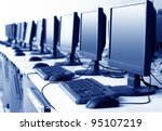 computer lab neatly placed rows ... | Shutterstock . vector #95107219