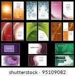 business card templates. vector ... | Shutterstock .eps vector #95109082